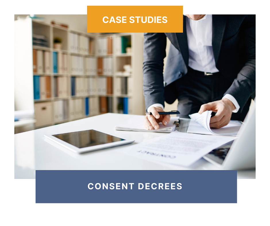 Case Study: Consent Decree Projects