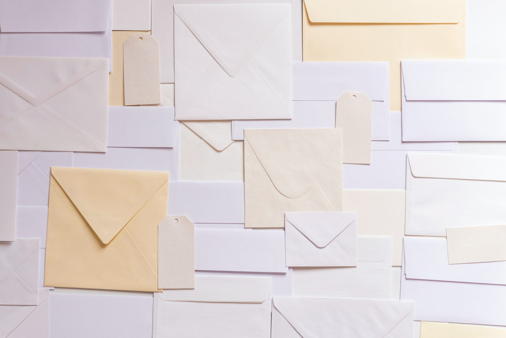 Envelopes of different sizes